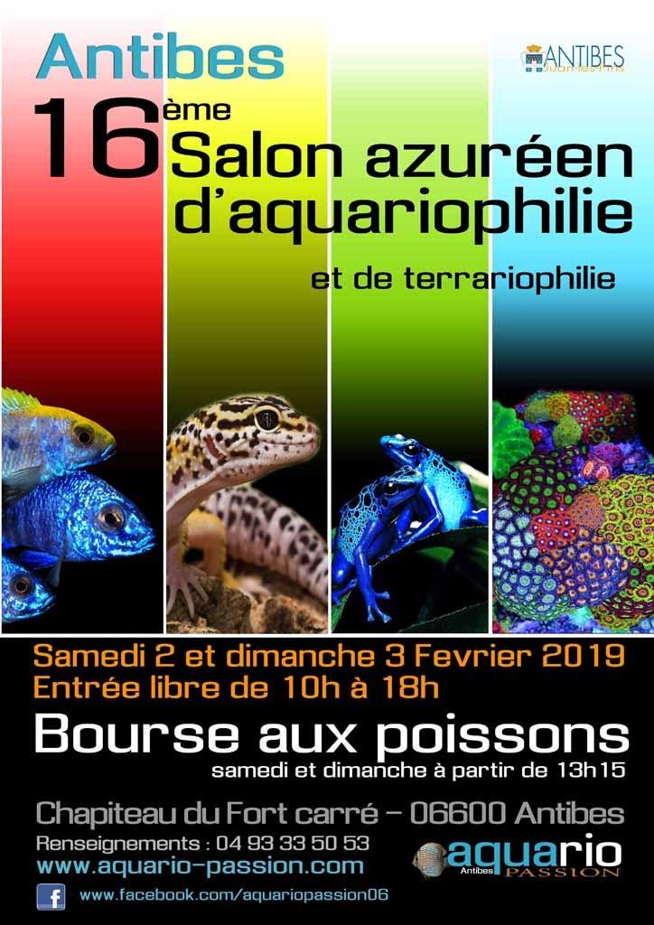 16ème Salon azuréen d'aquariophile et de terrariophile 2 et 3 Fevrier 2019