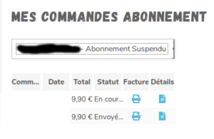 Abonnement Pandacraft suspendu