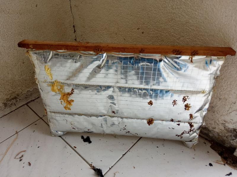 Partition isolante et réfléchissante pour une ruche ou ruchette